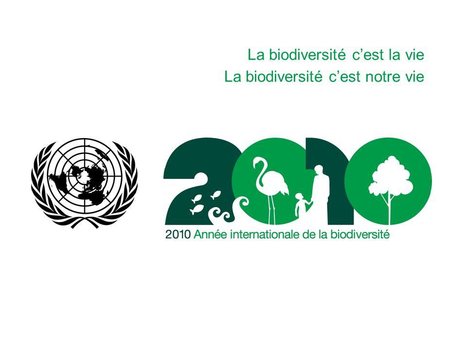 La biodiversité cest la vie La biodiversité cest notre vie
