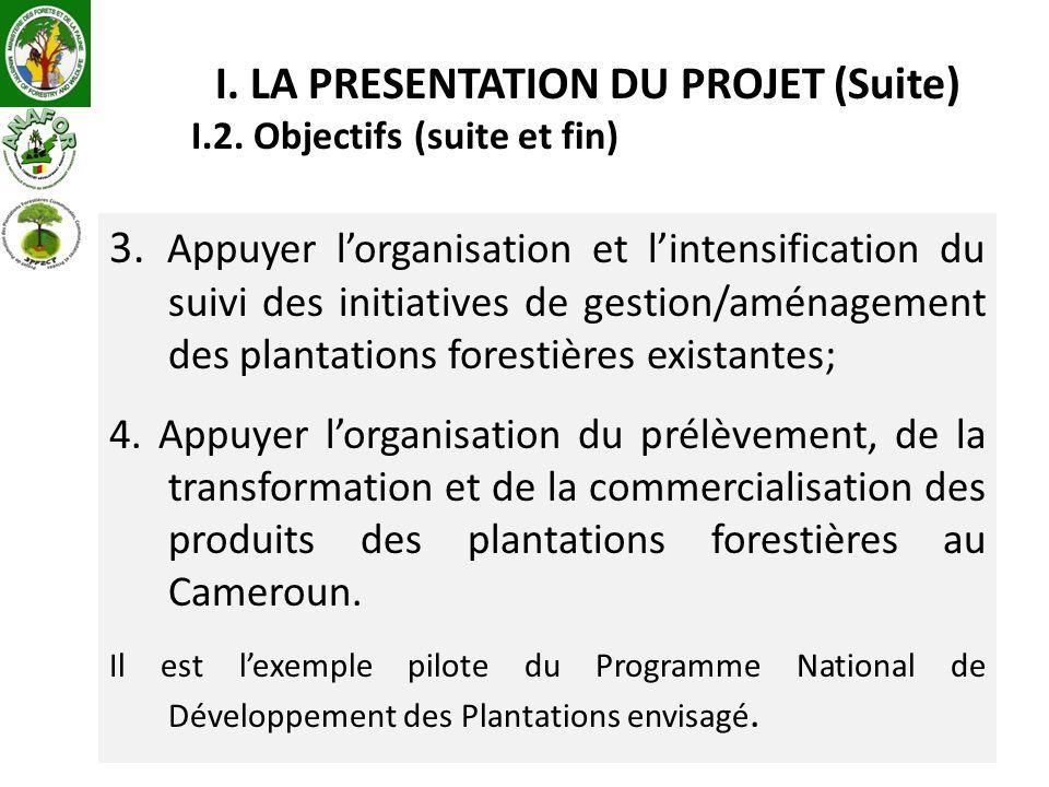 3. Appuyer lorganisation et lintensification du suivi des initiatives de gestion/aménagement des plantations forestières existantes; 4. Appuyer lorgan