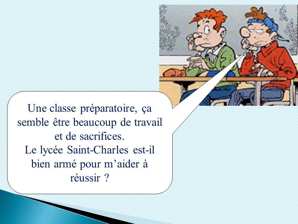 Une classe préparatoire, ça semble être beaucoup de travail et de sacrifices. Le lycée Saint-Charles est-il bien armé pour maider à réussir ?