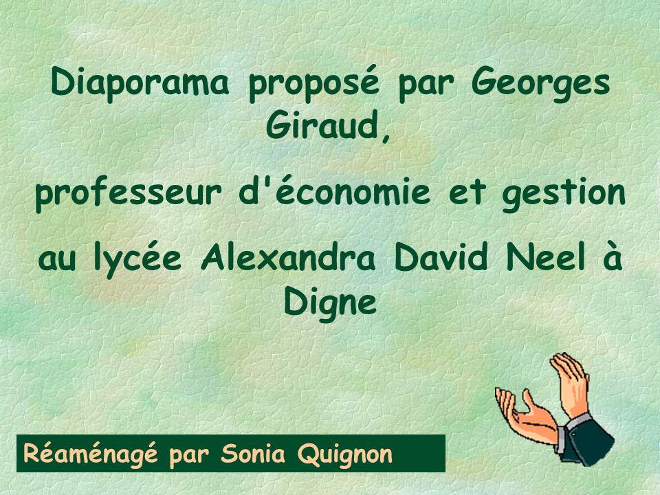 Diaporama proposé par Georges Giraud, professeur d économie et gestion au lycée Alexandra David Neel à Digne Réaménagé par Sonia Quignon