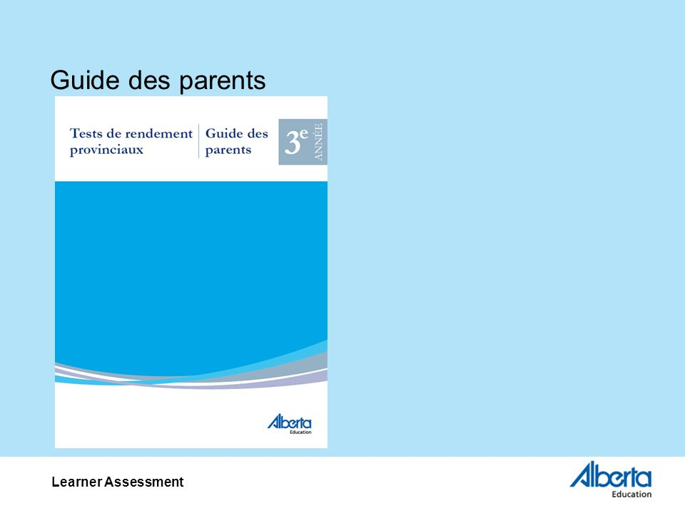 Guide des parents Learner Assessment