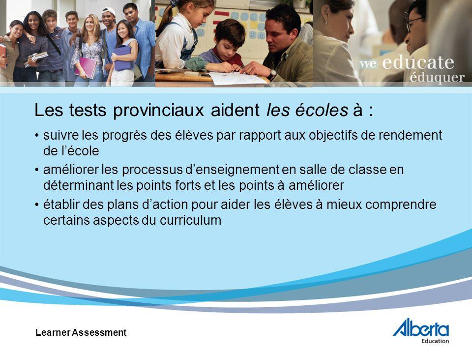 Utilisation des résultats des tests Aucun test ne peut tout évaluer.