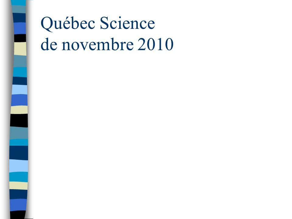Québec Science de novembre 2010