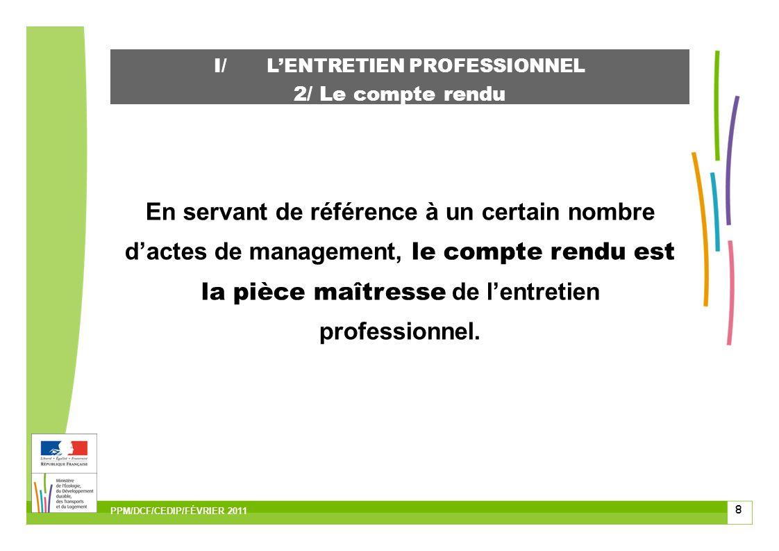 29 III/ QUELQUES CONSEILS relatifs aux deux entretiens Connaître la fiche de poste des agents et leurs activités.