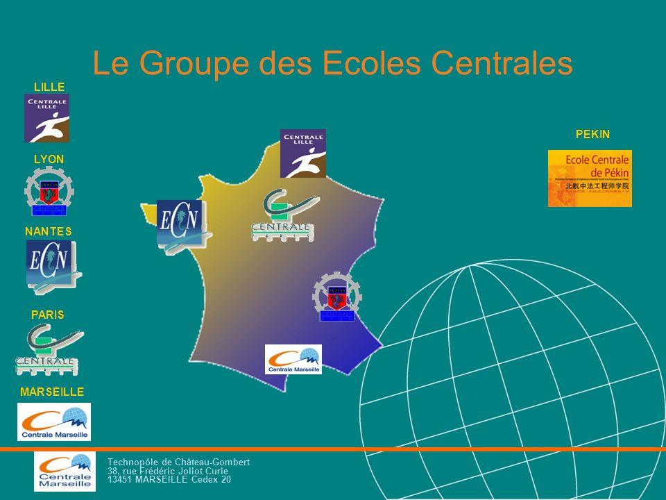Technopôle de Château-Gombert 38, rue Frédéric Joliot Curie 13451 MARSEILLE Cedex 20 Le Groupe des Ecoles Centrales NANTES LILLE LYON PARIS MARSEILLE