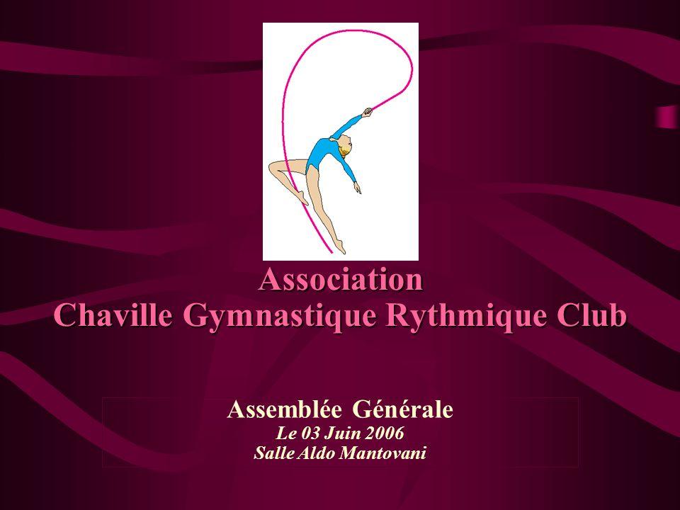 Association Chaville Gymnastique Rythmique Club Assemblée Générale Le 03 Juin 2006 Salle Aldo Mantovani