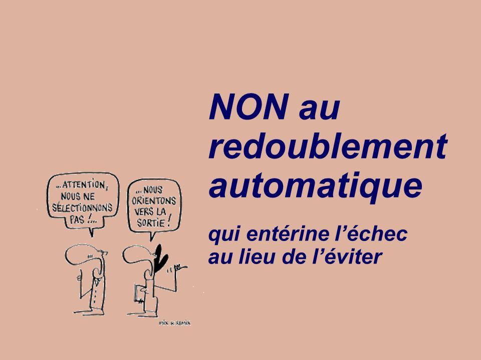 NON au redoublement automatique - 1 Les pédagogies efficaces corrigent tout de suite les erreurs et de manière ciblée.