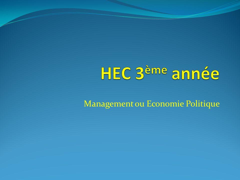 Management ou Economie Politique