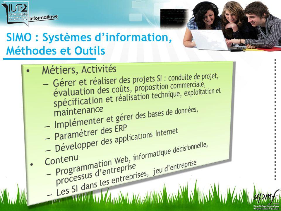 SIMO : Systèmes dinformation, Méthodes et Outils