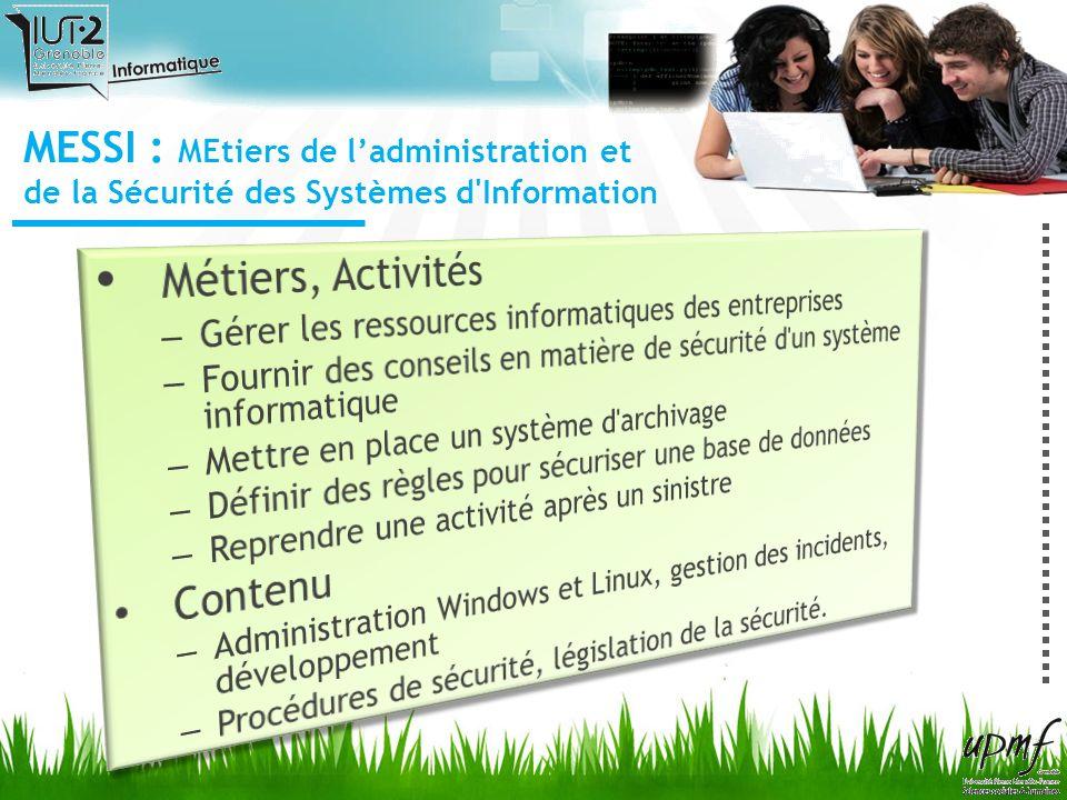 MESSI : MEtiers de ladministration et de la Sécurité des Systèmes d'Information