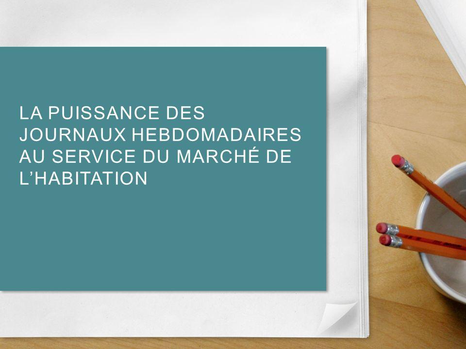 LA PUISSANCE DES JOURNAUX HEBDOMADAIRES AU SERVICE DU MARCHÉ DE LHABITATION