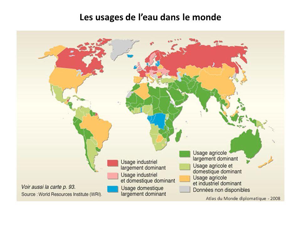 Les usages de leau dans le monde Atlas du Monde diplomatique - 2008