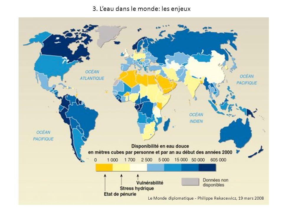 3. Leau dans le monde: les enjeux Le Monde diplomatique - Philippe Rekacewicz, 19 mars 2008