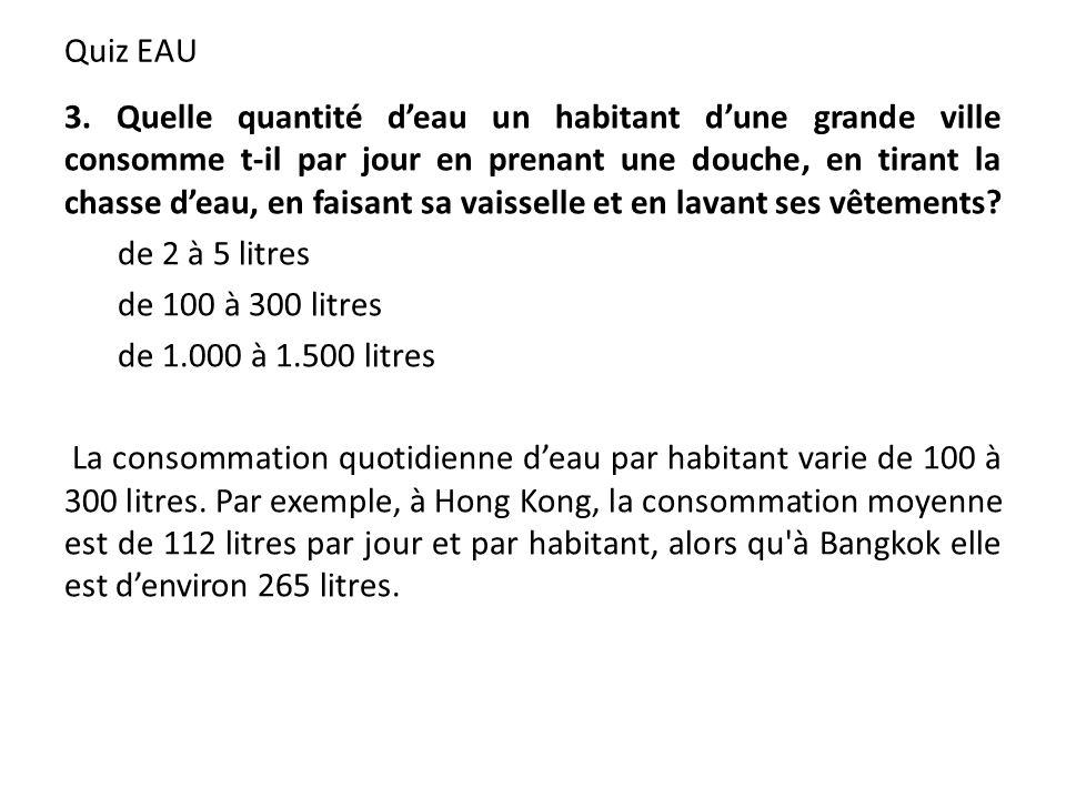Quiz EAU 3.