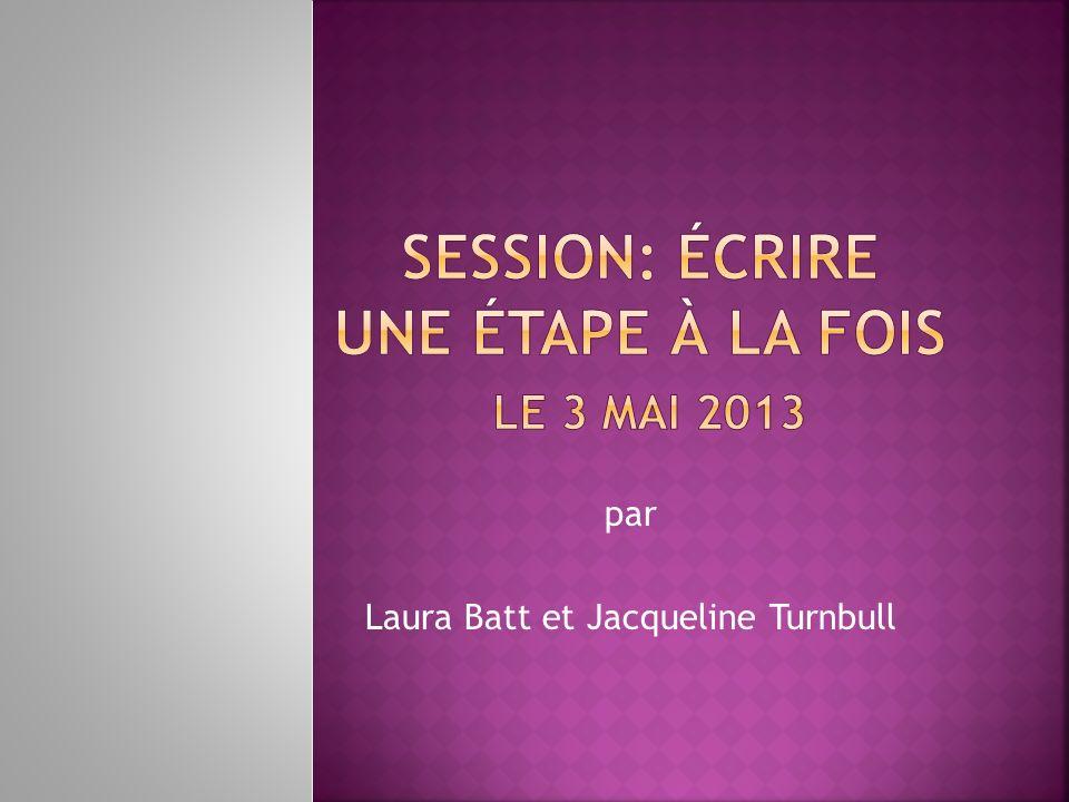 par Laura Batt et Jacqueline Turnbull