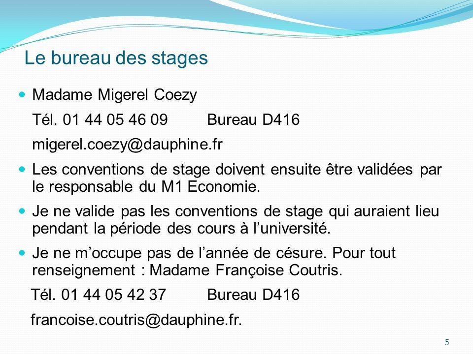 Le stage obligatoire - deux mois minimum Le stage obligatoire apporte 4 ECTS.