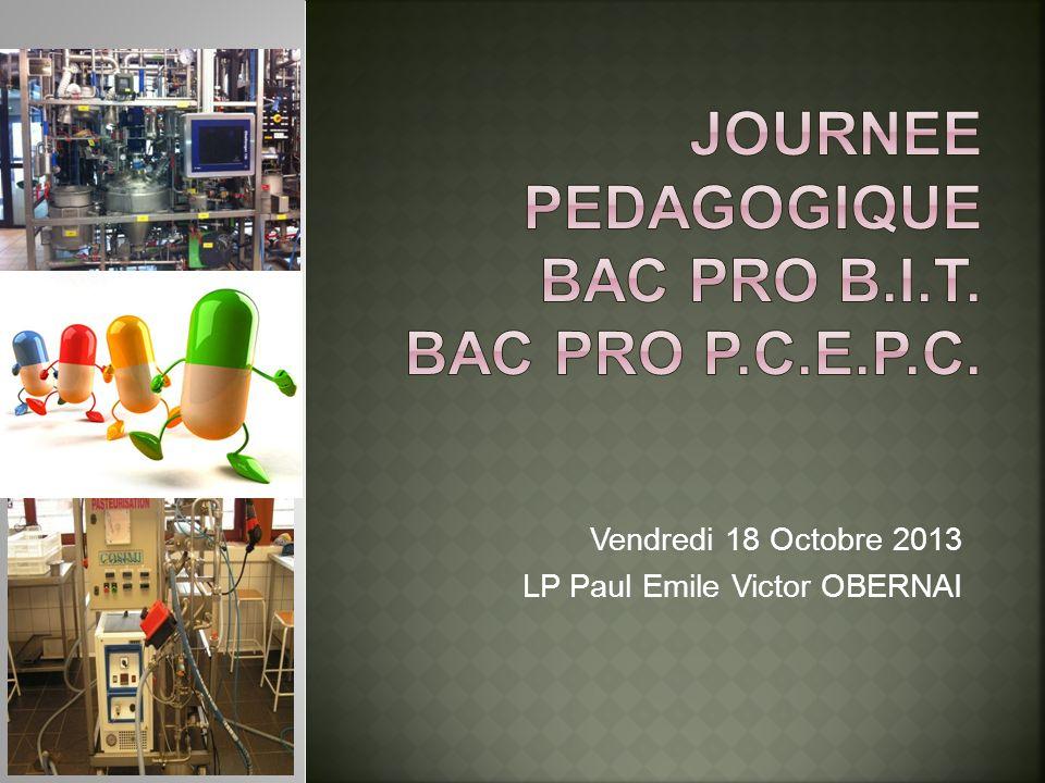 Vendredi 18 Octobre 2013 LP Paul Emile Victor OBERNA I