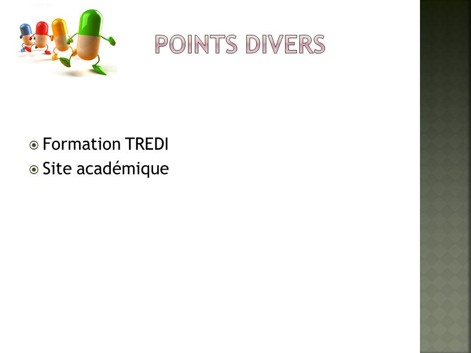 Formation TREDI Site académique