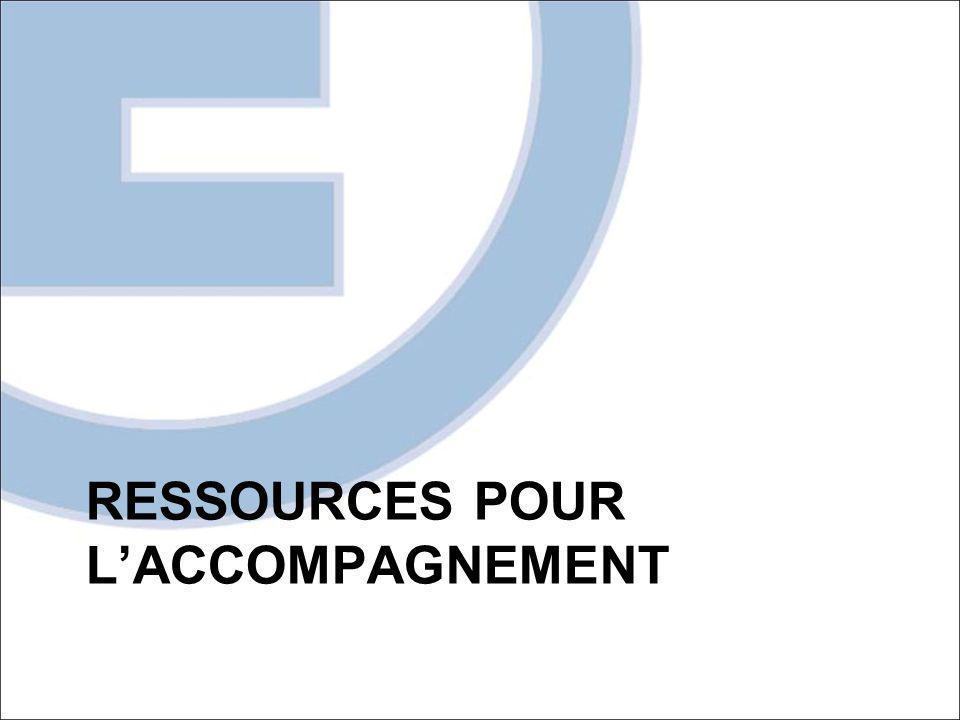RESSOURCES POUR LACCOMPAGNEMENT