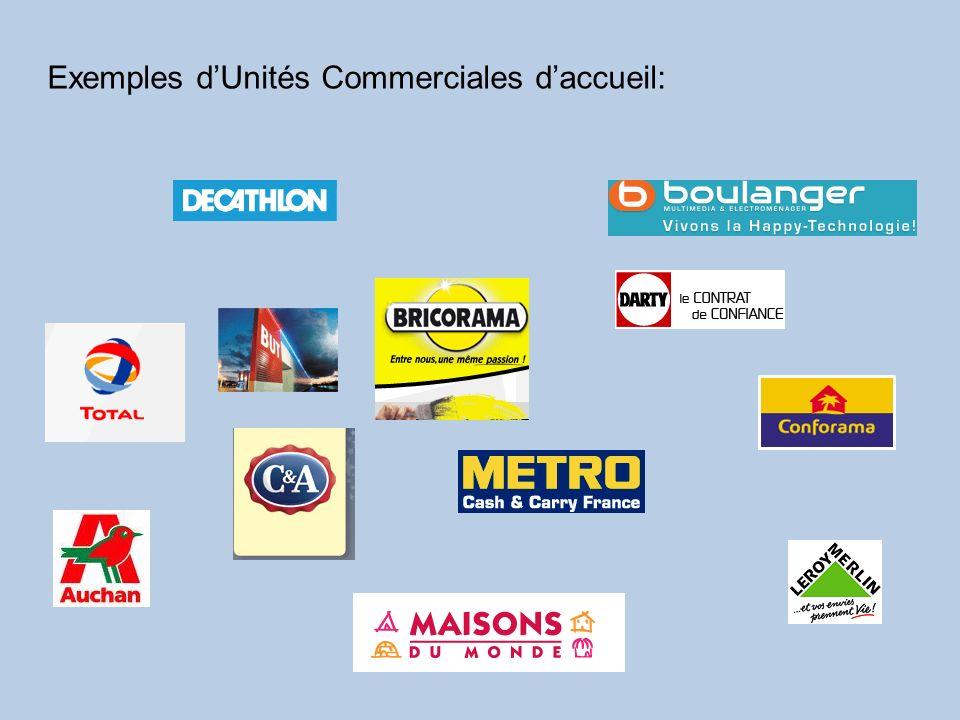 Exemples dUnités Commerciales daccueil: