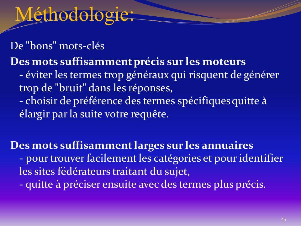 Méthodologie: De
