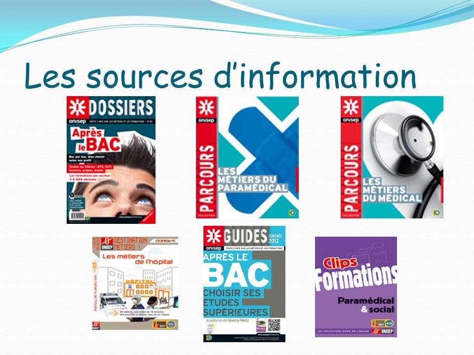 Les sources dinformation