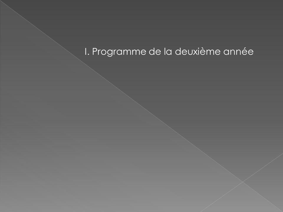 I. Programme de la deuxième année
