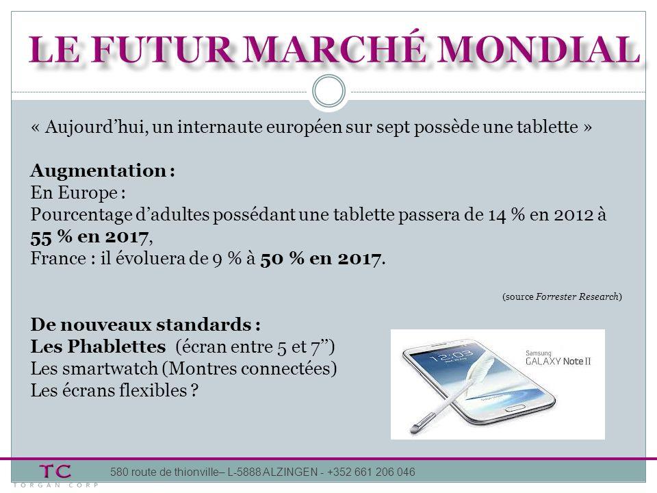 « Aujourdhui, un internaute européen sur sept possède une tablette » Augmentation : En Europe : Pourcentage dadultes possédant une tablette passera de