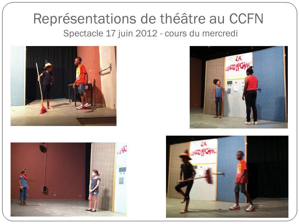 Représentations de théâtre au CCFN Spectacle 17 juin 2012 - cours du mercredi