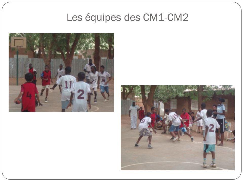 Les équipes des CM1-CM2