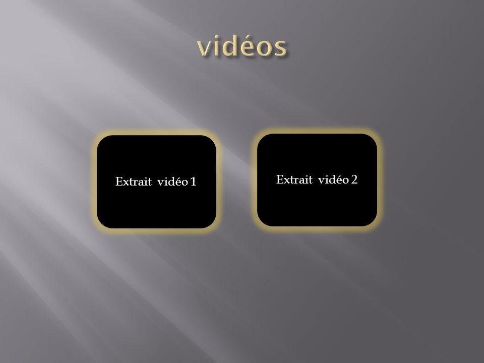Extrait vidéo 1 Extrait vidéo 2