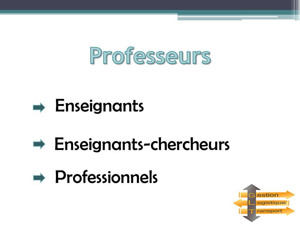 Enseignants Enseignants-chercheurs Professionnels