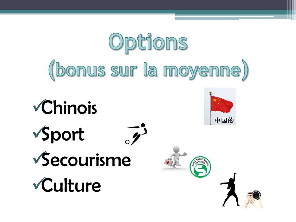 Chinois Sport Secourisme Culture