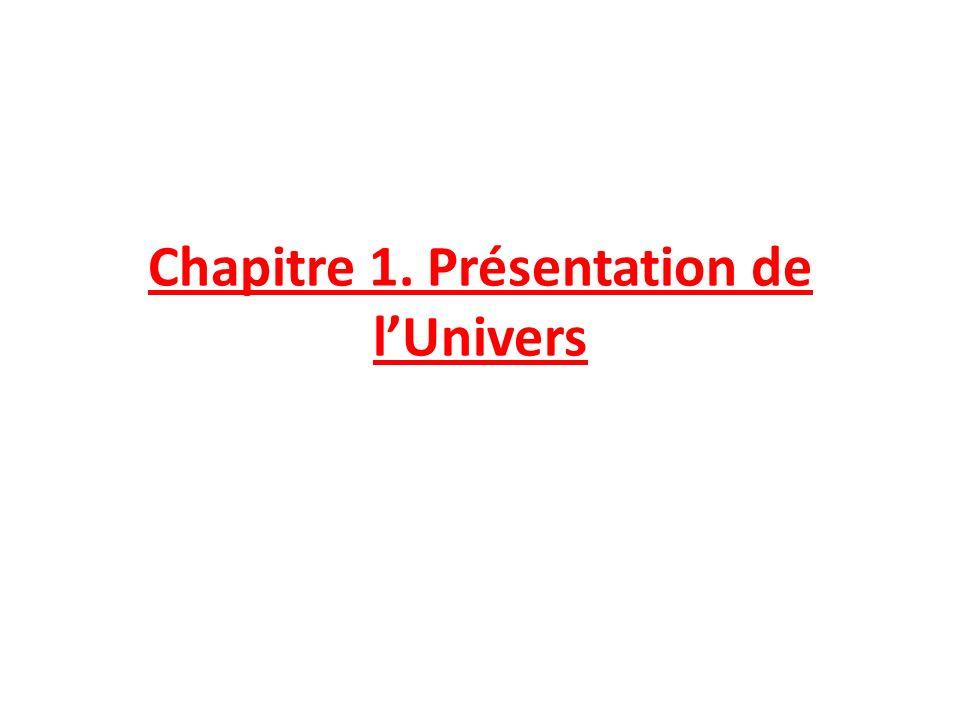 Chapitre 1. Présentation de lUnivers