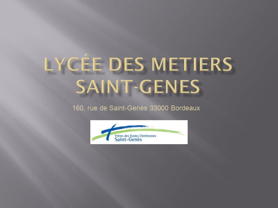 Lycée Professionnel Saint-Genès Ligne B Arrêt Bergonié Gare Saint-Jean