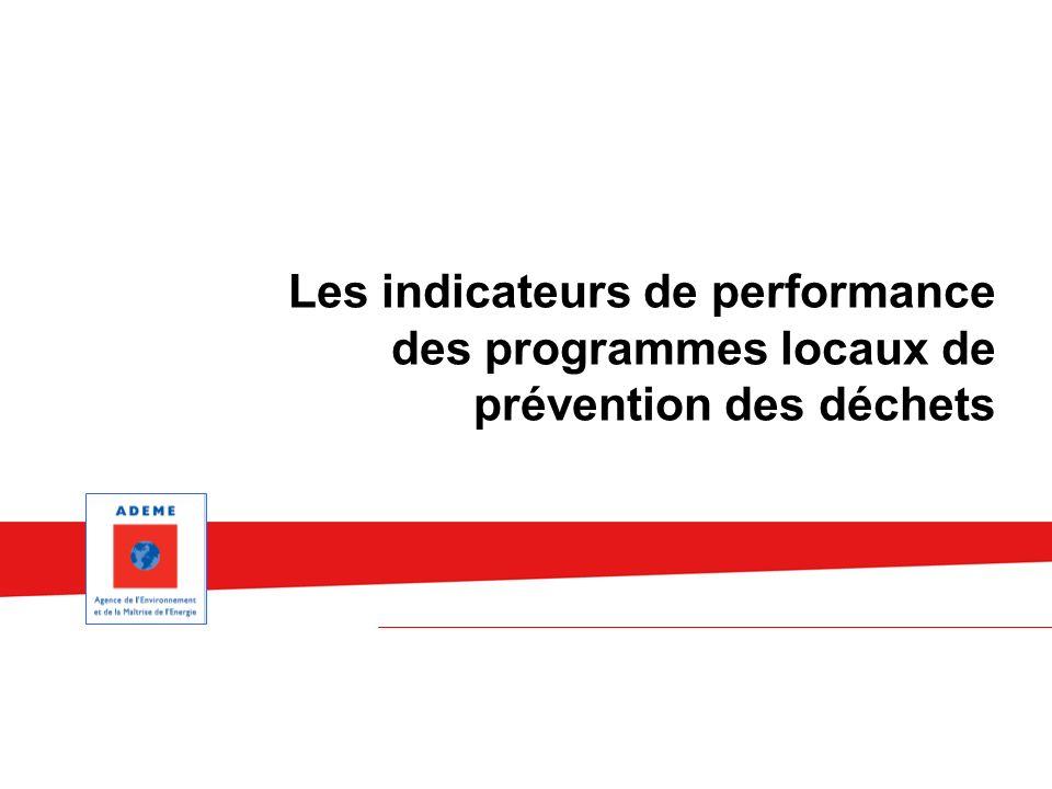 Les indicateurs de performance des programmes locaux de prévention des déchets