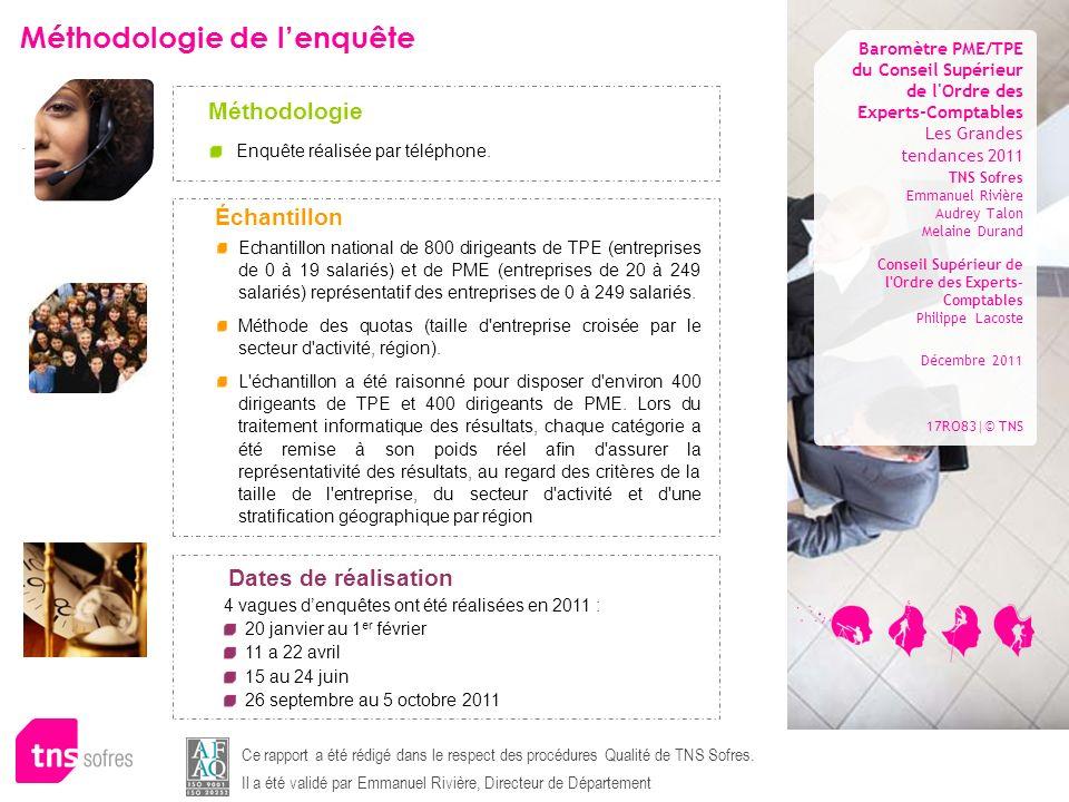 Les Grandes tendances 2011 TNS Sofres Emmanuel Rivière Audrey Talon Melaine Durand Conseil Supérieur de l'Ordre des Experts- Comptables Philippe Lacos
