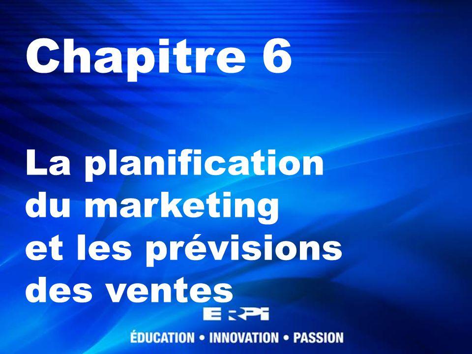 Chapitre 6 La planification du marketing et les prévisions des ventes© ERPI, tous droits réservés.22 Les modèles causaux La régression linéaire