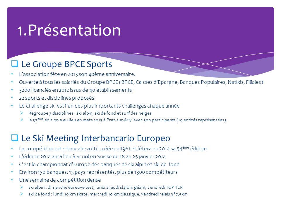 Le Groupe BPCE Sports Lassociation fête en 2013 son 40ème anniversaire. Ouverte à tous les salariés du Groupe BPCE (BPCE, Caisses dEpargne, Banques Po
