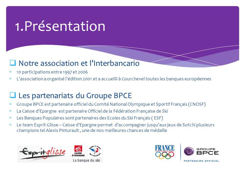 Notre association et lInterbancario 10 participations entre 1997 et 2006 Lassociation a organisé lédition 2001 et a accueilli à Courchevel toutes les