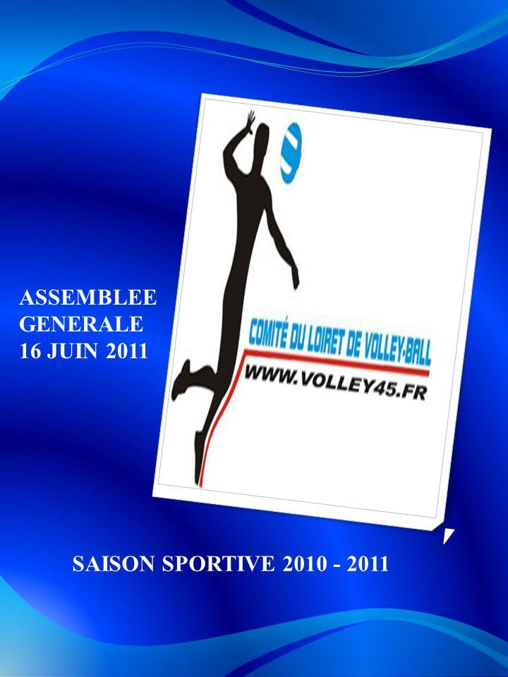 ASSEMBLEE GENERALE 16 JUIN 2011 SAISON SPORTIVE 2010 - 2011