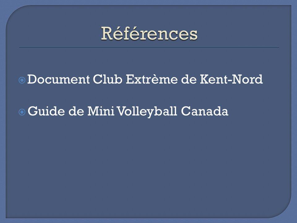 Document Club Extrème de Kent-Nord Guide de Mini Volleyball Canada