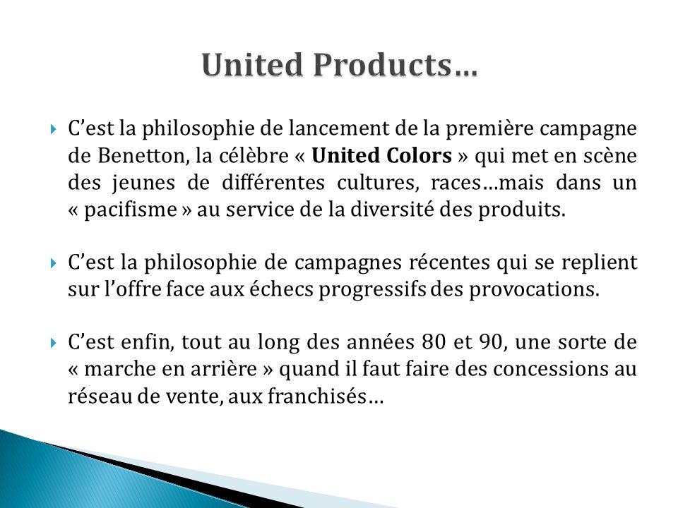 Cest la philosophie de lancement de la première campagne de Benetton, la célèbre « United Colors » qui met en scène des jeunes de différentes cultures