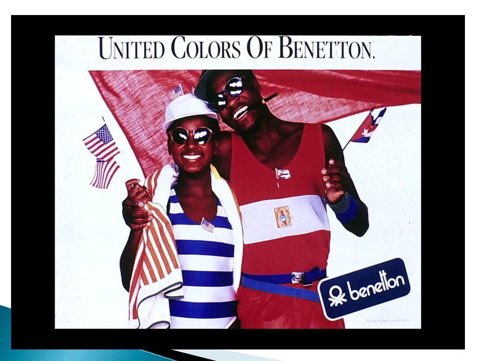 Cest la philosophie de lancement de la première campagne de Benetton, la célèbre « United Colors » qui met en scène des jeunes de différentes cultures, races…mais dans un « pacifisme » au service de la diversité des produits.