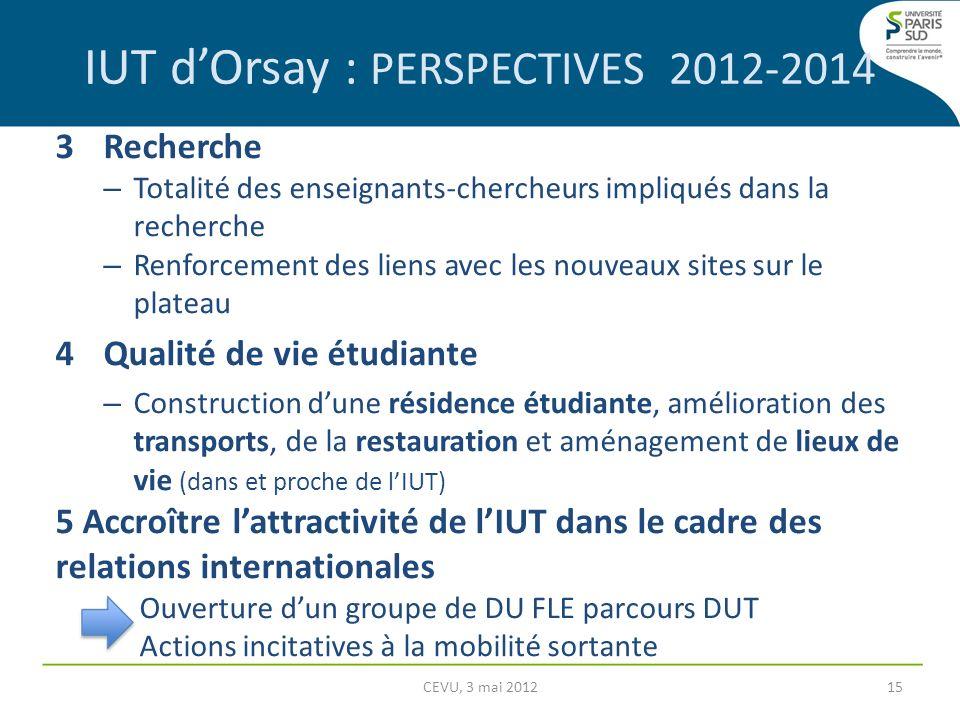 3 Recherche – Totalité des enseignants-chercheurs impliqués dans la recherche – Renforcement des liens avec les nouveaux sites sur le plateau 4Qualité