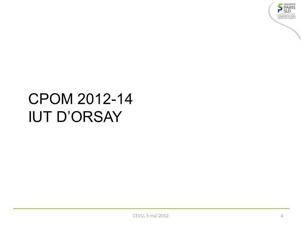 CPOM 2012-14 IUT DORSAY CEVU, 3 mai 20124
