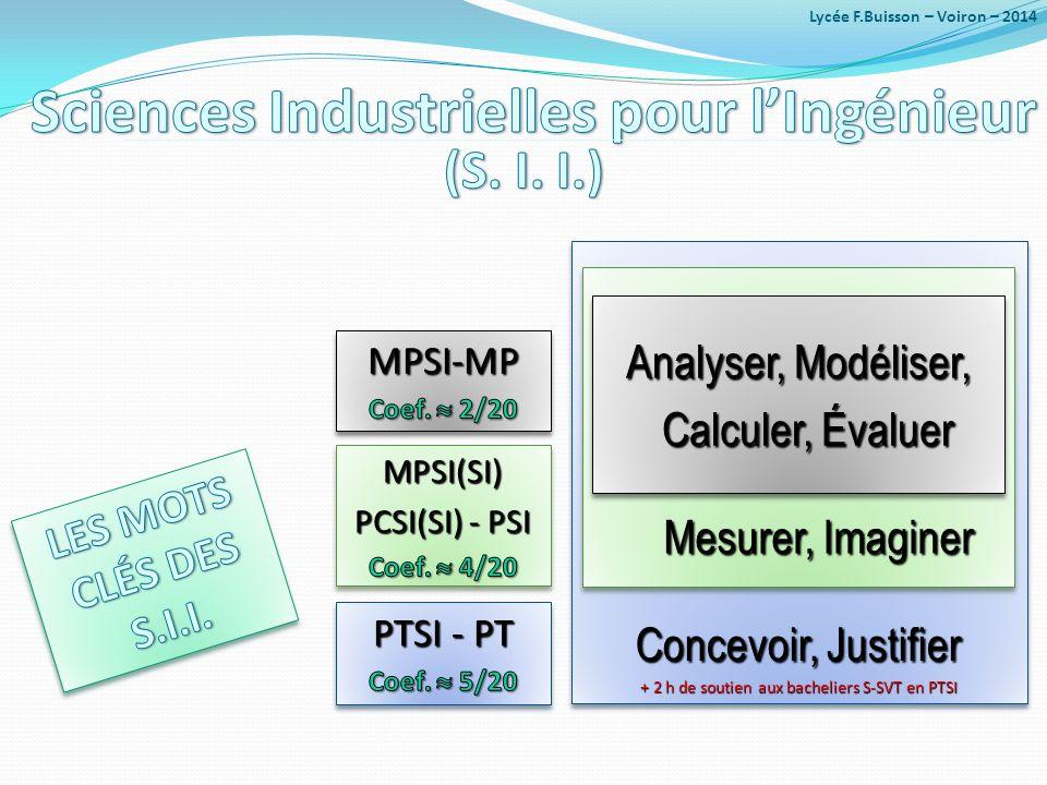 Concevoir, Justifier + 2 h de soutien aux bacheliers S-SVT en PTSI Concevoir, Justifier + 2 h de soutien aux bacheliers S-SVT en PTSI Mesurer, Imagine
