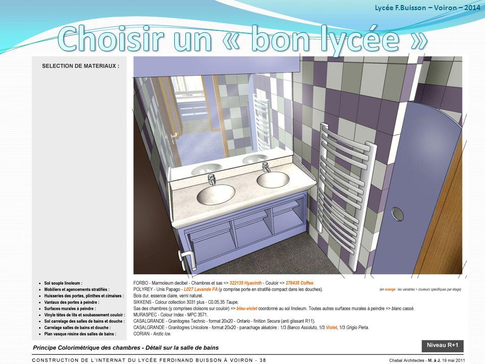 2 exemples anciens mais significatifs : Lycée F.Buisson – Voiron – 2014
