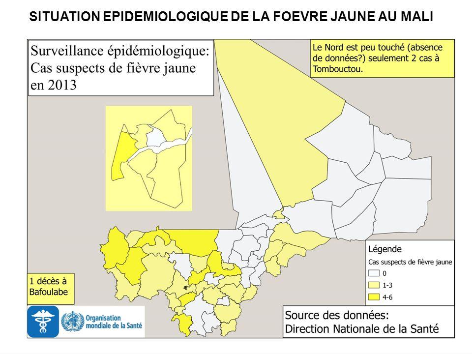 Il sera souhaitable datteindre lobjectif de couverture vaccinale de 95% dans les 26 districts à risque.