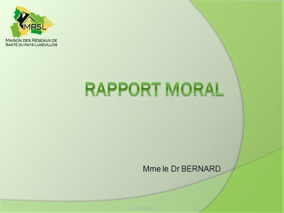 Mme le Dr BERNARD AG 23/05/2013